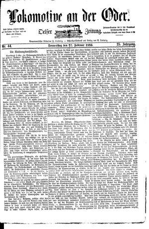 Lokomotive an der Oder vom 22.02.1883