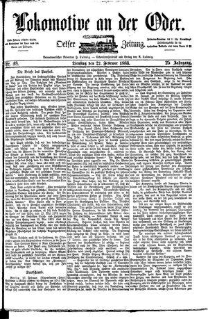 Lokomotive an der Oder vom 27.02.1883