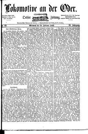 Lokomotive an der Oder vom 28.02.1883