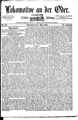 Lokomotive an der Oder vom 01.03.1883