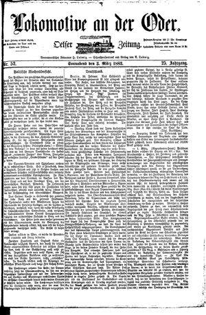 Lokomotive an der Oder vom 03.03.1883