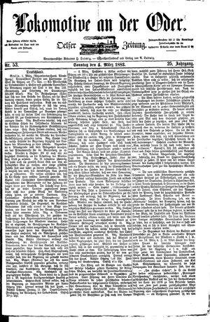 Lokomotive an der Oder vom 04.03.1883