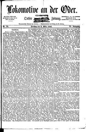 Lokomotive an der Oder vom 06.03.1883