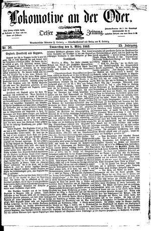 Lokomotive an der Oder vom 08.03.1883