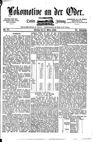 Lokomotive an der Oder vom 09.03.1883