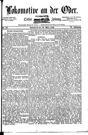 Lokomotive an der Oder vom 10.03.1883
