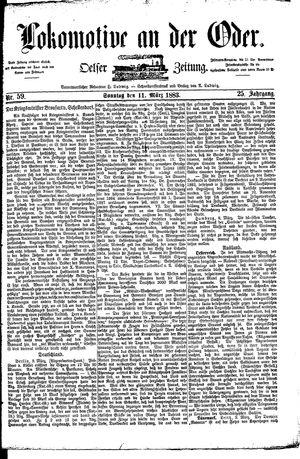Lokomotive an der Oder vom 11.03.1883