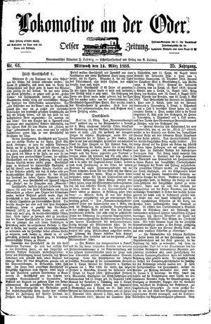Lokomotive an der Oder vom 14.03.1883