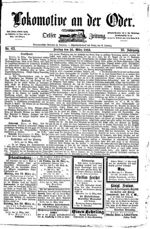 Lokomotive an der Oder on Mar 16, 1883