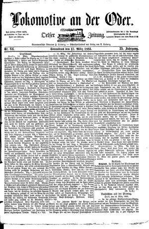 Lokomotive an der Oder vom 17.03.1883