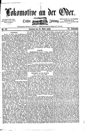 Lokomotive an der Oder vom 18.03.1883