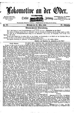 Lokomotive an der Oder vom 21.03.1883