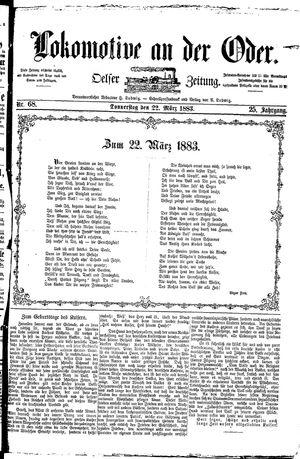 Lokomotive an der Oder vom 22.03.1883