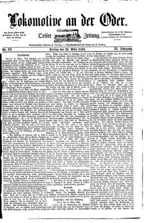 Lokomotive an der Oder vom 23.03.1883