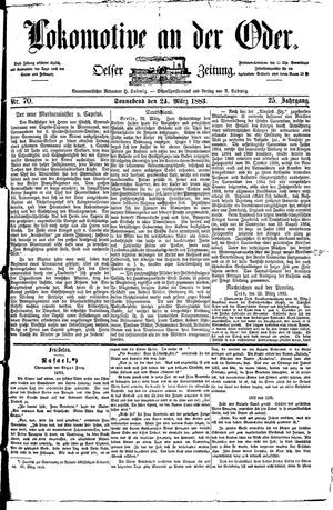 Lokomotive an der Oder vom 24.03.1883