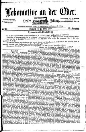 Lokomotive an der Oder vom 28.03.1883