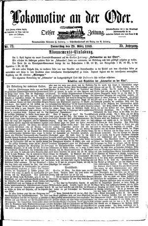 Lokomotive an der Oder vom 29.03.1883