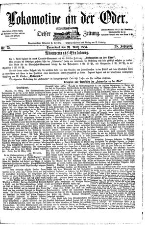 Lokomotive an der Oder vom 31.03.1883