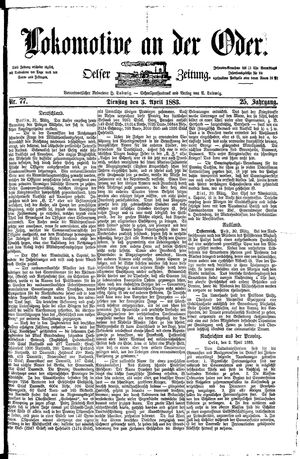 Lokomotive an der Oder on Apr 3, 1883