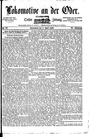 Lokomotive an der Oder vom 07.04.1883