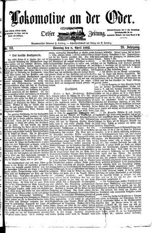 Lokomotive an der Oder vom 08.04.1883