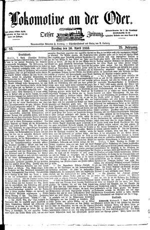 Lokomotive an der Oder on Apr 10, 1883