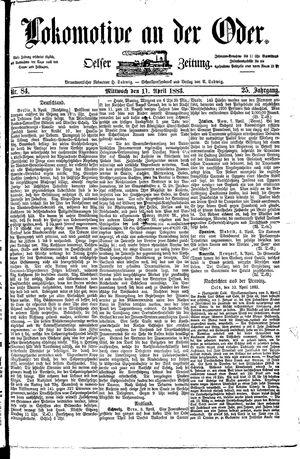 Lokomotive an der Oder vom 11.04.1883