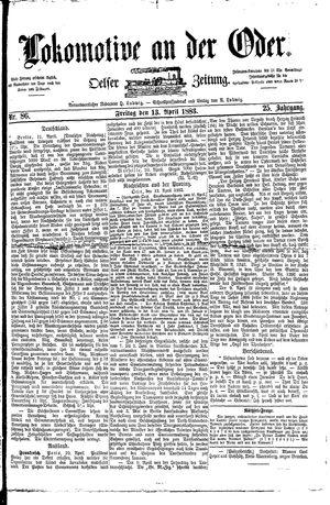 Lokomotive an der Oder vom 13.04.1883