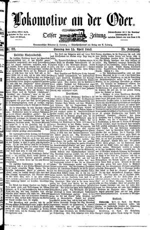 Lokomotive an der Oder vom 15.04.1883