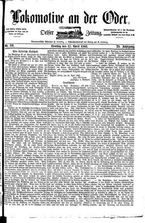 Lokomotive an der Oder vom 17.04.1883