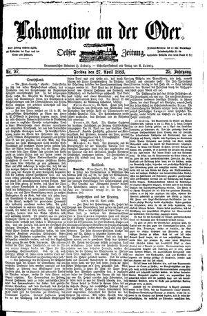 Lokomotive an der Oder vom 27.04.1883
