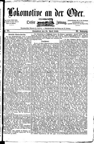 Lokomotive an der Oder vom 28.04.1883