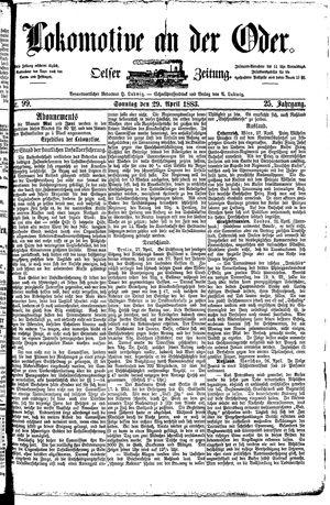 Lokomotive an der Oder vom 29.04.1883