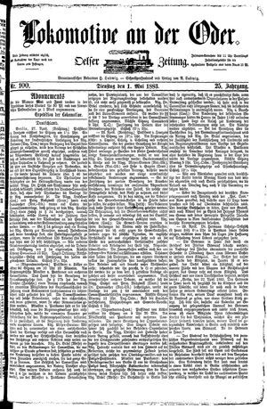 Lokomotive an der Oder vom 01.05.1883
