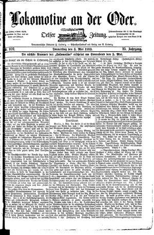 Lokomotive an der Oder vom 03.05.1883