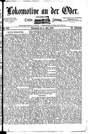 Lokomotive an der Oder vom 05.05.1883