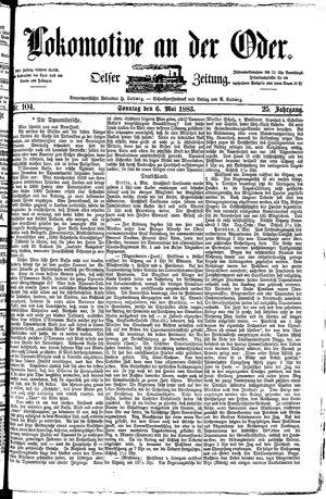 Lokomotive an der Oder vom 06.05.1883