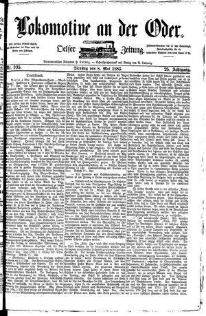 Lokomotive an der Oder vom 08.05.1883