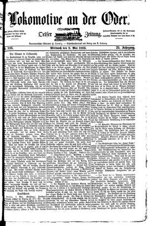 Lokomotive an der Oder vom 09.05.1883