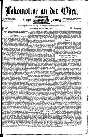 Lokomotive an der Oder vom 10.05.1883