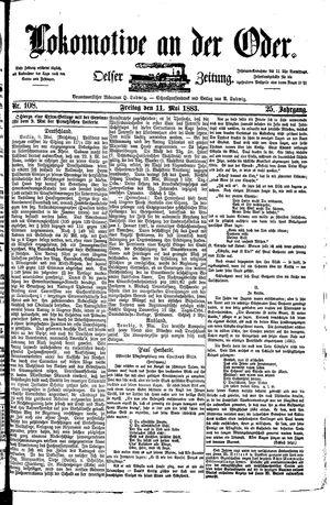 Lokomotive an der Oder vom 11.05.1883