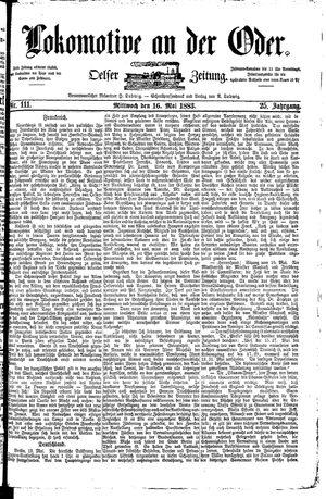 Lokomotive an der Oder on May 16, 1883