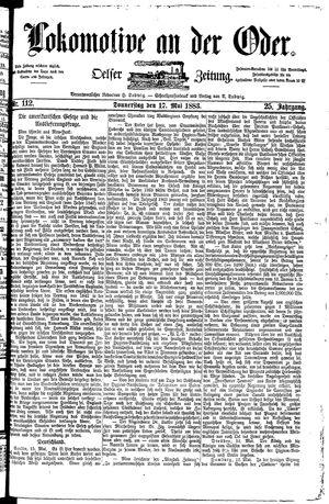 Lokomotive an der Oder vom 17.05.1883