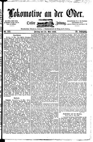 Lokomotive an der Oder vom 18.05.1883