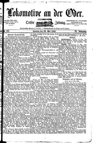 Lokomotive an der Oder vom 20.05.1883