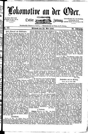 Lokomotive an der Oder vom 23.05.1883
