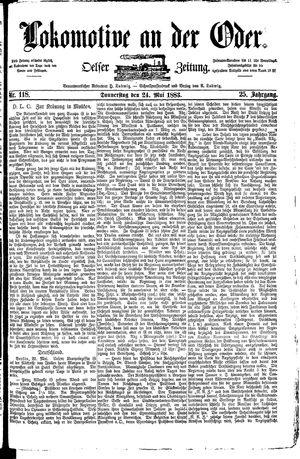 Lokomotive an der Oder vom 24.05.1883