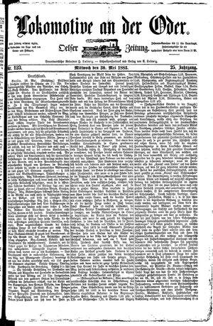 Lokomotive an der Oder vom 30.05.1883