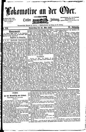 Lokomotive an der Oder vom 31.05.1883
