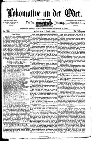 Lokomotive an der Oder vom 01.06.1883